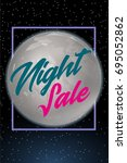 night sale dark banner. sale... | Shutterstock . vector #695052862