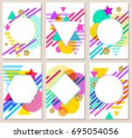 bright colorful abstract vector ... | Shutterstock .eps vector #695054056