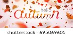 stock vector illustration hallo ... | Shutterstock .eps vector #695069605