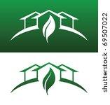 green house vector both solid...   Shutterstock .eps vector #69507022