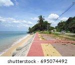 krabi   thailand   march 11...   Shutterstock . vector #695074492