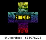 strength word cloud collage ...   Shutterstock .eps vector #695076226