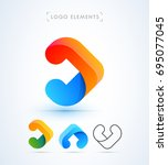 abstract vector arrow  letter a ... | Shutterstock .eps vector #695077045