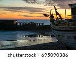 28 12 2016  hastings  uk ... | Shutterstock . vector #695090386