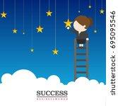 business women    Shutterstock .eps vector #695095546