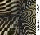 luxury gold geometric pattern... | Shutterstock .eps vector #695102482