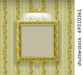 Golden Square Frame With...
