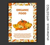 food design with vegetable.... | Shutterstock .eps vector #695107822