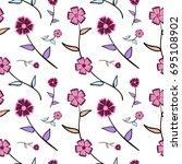 seamless wallpaper vector... | Shutterstock .eps vector #695108902