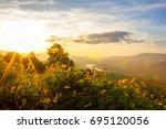 mount fuji at loei province ... | Shutterstock . vector #695120056