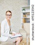 portrait of beautiful female... | Shutterstock . vector #695123542