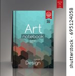 modern vector abstract book... | Shutterstock .eps vector #695124058