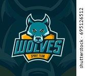 modern professional wolves team ... | Shutterstock .eps vector #695126512