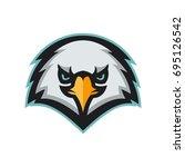 angry eagle head mascot. modern ...