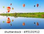 saga  japan   nov 03  saga... | Shutterstock . vector #695131912