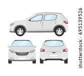 car vector template on white... | Shutterstock .eps vector #695139526