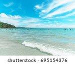 the beach in thailand which... | Shutterstock . vector #695154376