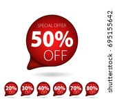 red tag special offer discount... | Shutterstock .eps vector #695155642