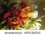 vietnamese flower silk... | Shutterstock . vector #695156542