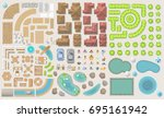 set of landscape elements.... | Shutterstock .eps vector #695161942