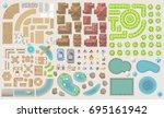 set of landscape elements....   Shutterstock .eps vector #695161942