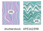 cover layouts collection with... | Shutterstock .eps vector #695162398