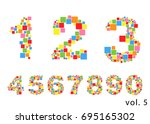 arabic numerals set 1 10.... | Shutterstock .eps vector #695165302