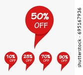 special offer sale red tag... | Shutterstock .eps vector #695167936