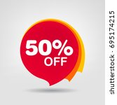 50  off discount sticker. sale... | Shutterstock .eps vector #695174215