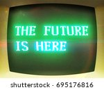 vintage computer   the future... | Shutterstock .eps vector #695176816