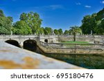 "Small photo of ""Parc Domanial"", Nîmes, France View of the Roman canals ans the park"