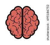 human brain icon image  | Shutterstock .eps vector #695186752