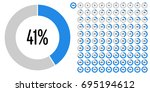 set of circle percentage... | Shutterstock .eps vector #695194612
