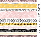 template of seamless pattern.... | Shutterstock .eps vector #695194822