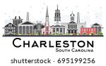 charleston south carolina... | Shutterstock .eps vector #695199256