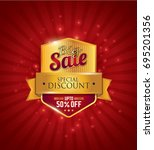 big sale festival sale design... | Shutterstock .eps vector #695201356