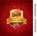 big sale festival sale design... | Shutterstock .eps vector #695201356