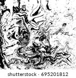 black and white liquid texture. ... | Shutterstock .eps vector #695201812