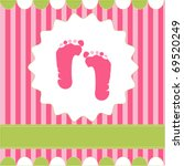 Footprint Of Girl