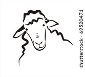 Sheep Vector Simple Icon In...