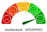 scale speed  valuation by... | Shutterstock .eps vector #695204932