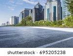 empty floor with modern... | Shutterstock . vector #695205238