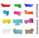 vector labels folded for web... | Shutterstock .eps vector #695210086