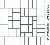 random square pattern grid... | Shutterstock .eps vector #695212732
