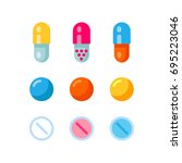colorful pattern of medical... | Shutterstock .eps vector #695223046