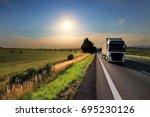 truck transportation | Shutterstock . vector #695230126