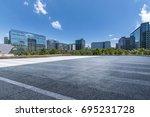 empty floor with modern...   Shutterstock . vector #695231728