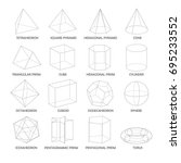 all basic 3d shapes template.... | Shutterstock .eps vector #695233552