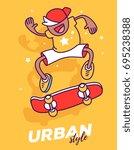 vector creative illustration of ... | Shutterstock .eps vector #695238388