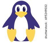 abstract cute penguin vector in ... | Shutterstock .eps vector #695249032